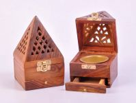Wooden Handicrafted Dhoop Box/dhoop Burner Special Dhoop Boxdh