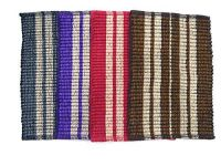 Peponi Multicolor Cotton Hand Woven Door Mat Set Of 3