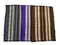 Peponi Multicolor Cotton Hand Woven Door Mat Set Of 4