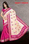 Fabfiza Pink Cotton Designer Saree