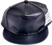Solid Black Snapback Hiphope Cap