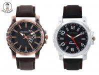 Jack Rachel Synthetic Leather Analog Watch Combo For Men (jr_49 -jr_50)