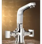 Oleanna Melody Brass Center Hole Basin Mixer Silver Water Mixer