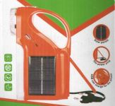 3 In 1 Portable Solar/elect LED Rechargeable Lantern Flashlight With Mobile Charging Socket