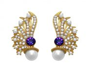 La Trendz Party Wear Earring Blue Stone For Girls And Women(lt2019)