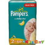 Pampers New Baby Diapers (size 2) - Small - 64 (3-6kg) (imported)