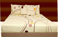 Livanto Greenish White Double Size Bedsheets & Pillow Cover Set|li3006creg