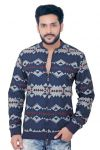 "Goplay Dark Blue Brushed Cotton Men""s Jacket-(code-gp18340as)"