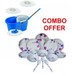 Czar Combo Of Easy Mop With Bucket With 24 PCs Dinner Set-1004