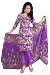 Vedant Vastram Purple Colour Poly Cotton Unstitched Printed Dress Matrial (code - Vvdm_nidipurple)