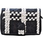 Tamanna Women Black And White Leather Wallet Lww00110