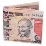 1000 Rupee Indian Note Shaped Smart Currency Wallet