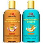 Man Arden Bergamot & Cedarwood + Energizing Sport Luxury Shower Gel With Essential Oils - 300 Ml