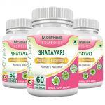 Morpheme Shatavari (asparagus Racemous) 500mg Extract 60 Veg Caps - 3 Bottles