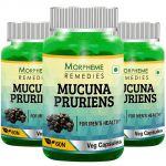 Morpheme Mucuna Pruriens (kapikachhu) - 500mg Extract - 60 Veg Caps - 3 Bottles
