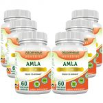Morpheme Amla Caps Vitamin C & Antioxidant 500mg Extract 60 Veg Caps - 6 Bottles