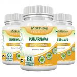 Morpheme Punarnava (boerhavia Diffusa) 500mg Extract 60 Veg Caps - 3 Bottles