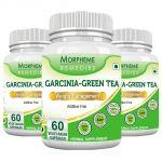 Morpheme Garcinia Green Tea - 500mg Extract 60 Veg Caps - 3 Bottles