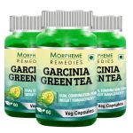 Morpheme Garcinia Green Tea - 500mg Extract 60 Veg Caps - 3 Bottles