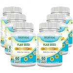 Morpheme Flaxseed - Omega 3,6,9 - 500mg Extract 60 Veg Caps - 6 Bottles