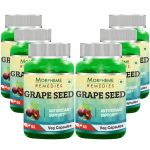 Morpheme Grape Seed Extract 500mg Extract 60 Veg Caps -pack Of 6 Bottles