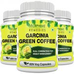 Morpheme Garcinia Green Coffee 500mg Extract 60 Veg Caps - 3 Bottles