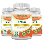 Morpheme Amla Caps Vitamin C & Antioxidant 500mg Extract 60 Veg Caps - 3 Bottles