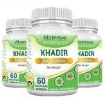 Morpheme Khadir (acacia Catechu) 500mg Extract 60 Veg Caps - 3 Bottles