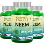 Morpheme Neem 500mg Extract 60 Veg Caps - 3 Bottles