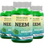 Morpheme Neem 500mg Extract 60 Veg Caps - 3 Bottles