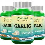 Morpheme Garlic 500mg Extract - 60 Veg Caps - 3 Bottles