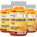 St.botanica Cod Liver Oil 525 - 90 Softgels - 3 Bottles