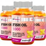 St.botanica Fish Oil 1000 Mg (double Strength) - 600 Mg Omega 3 - 60 Softgels - 3 Bottles