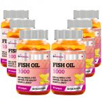 St.botanica Fish Oil 1000 Mg (double Strength) 600 Mg Omega 3 - 60 Softgels - 6 Bottles