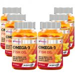 St.botanica Fish Oil 1000mg - 300mg Omega 3 - 60 Softgels - Pack Of 6