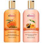 St.botanica Mandarin & Cypress Shower Gel + Peach And Avocado Nourishing Body Wash - 300 Ml E 10 Fl Oz.