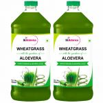 Stbotanica Wheatgrass With Aloevera - 500ml - Natural - 2 Bottles