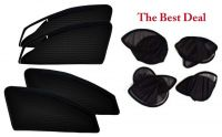 The Best Deal Zipper & Magnetic Foldable Car Sun Shades/ Curtain For Hyundai I-10 Grand -set Of 4