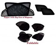 Premium Quality Foldable, Zipper & Magnetic Car Sun Shades/ Curtain For Maruti Omni -set Of 6
