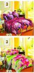 Vertex Industries 3d Polyester Double Bedsheet Set Of 2 (vibs 1009 & Vibs 1005)