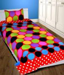 Shreejee Polycotton Single Bedsheet With One Pillow Covers (purdot)