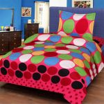 Shreejee Polycotton Single Bedsheet With One Pillow Covers (reddot)