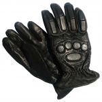 Jharjhar Black Leather Hand Gloves (b)