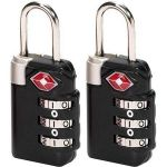 Inindia Tsa Travel Sentry 3-dial Luggage Lock With Red Indicator - Set Of 2