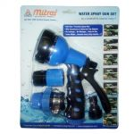 "Mitras Water Spray Gun Set 12.5mm (1/2"") Blue With Tap Adapter"