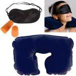 3-in-1 Travel Selection (comfort Neck Pillow, Travel Eyeshade & Travel Earplugs)