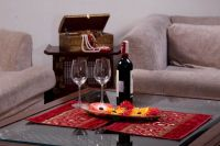 Jodhaa Ruby Red Illustrious Design Table Mats Set