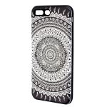 Xcelmobi Designer Black And White Rangoli Print Antidust Back Cover For iPhone 7 Plus