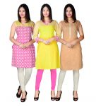 Port Cotton Multicolor Designer Kurti Combo Pack Of 3(designerkurti23_1)