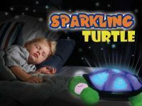 Turtle Night Light Star Projector Lamp Auto-off Option Works With USB Cable